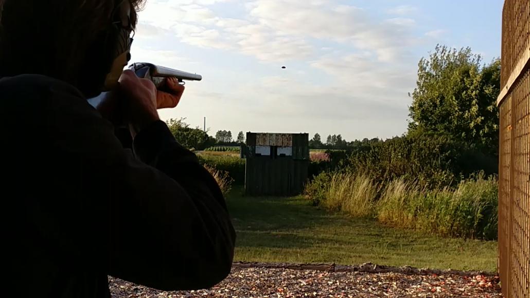 Skydning af spidsduer på skydebanen ifb med jagttegnskursus